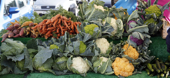 fresh vegetables at Romsey Farmers' Market